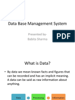 Data Base Management
