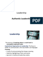 OB Authentic Leadership Counselling & Mentoring