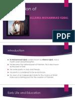 Introduction of Allama Iqbal