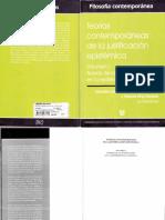 Garcia, Eraña, King Davalos - Teorías Contemporáneas de La Justificación Epistémica, Volumen I