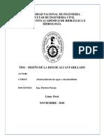RED DE ALCANTARILLADO