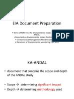 EIA Document Preparation