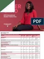 Undergraduate Fee Sheet - International Sep 2018