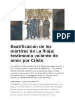 Beatificación de Los Mártires de La Rioja