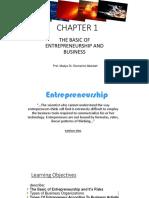 THE BASIC OF ENTREPRENEURSHIP AND BUSINESS