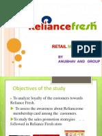 STUDY ON RELIANCE FRESH- CASE STUDY