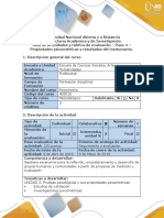 Guía de Actividades y Rúbrica de Evaluación - Paso 4 - Propiedades Psicometricas y Resultados Del Instrumento