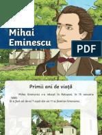 Mihai Eminescu Prezentare Powerpoint Romanian