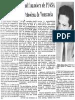 Edgard Romero Nava Fortalecer Capacidad Financiera de PDVSA Planteo Camara Petrolera 1987