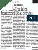 Edgard Romero Nava Propondra a Fedecamaras Nuevos Costos Debe Reconocer PDVSA a Contratistas - El Nacional 25.06.1987