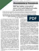 Edgard Romero Nava Sinceracion Del Dolar Petrolero Debera Favorecer Actividad Privada - El Universal 02.07.1987