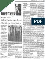 Miraflores a La Vista - No Tirantes Sino Poco Fluidas Relaciones Partido Gobierno - El Nacional 30.10.1987