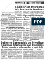 PDVSA Debe Equilibrar Sus Inversiones Para No Perjudicar Reactivacion Economica - Ultimas Noticias 27.06.1987