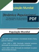 População Mundial_densidade Demográfica_teorias Demográficas