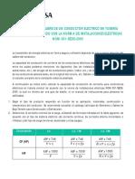 Selección Del Calibre de Un Conductor Eléctrico en Tubería (Conduit) de Acuerdo Con La Norma de Instalaciones Eléctricas Nom-001-Sede-2005