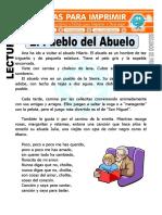 Ficha de El Pueblo Del Abuelo Para Segundo de Primaria