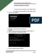 Instalacion de Sistemas Operativos Win9x