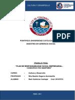 Plan de Responsabilidad Social Empresarial–Consorcio Rio Mantaro (Astaldi s.p.a. & Gym s.a.)