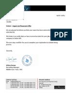 Letter JobOffer