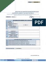 Solicitud de Licencia de Plantas Importador Exportador