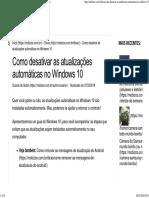 Como Desativar as Atualizações Automáticas No Windows 10 - Mobizoo