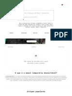 Endereço de Email Temporário Descartável – Serviço de E-mail Anônimo e Gratuito