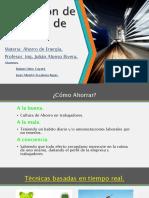 APLICACIONES DE TECNICAS DE AHORRO