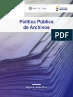 Politicas Publicas de Archivo