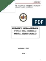 Reglamento de Grados y Titulos 2017 Unheval