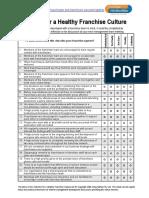 Healthy Franchise Culture Checklist