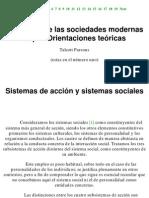Talcott Parsons - El Sistema de Las Sociedades Modernas Cap.ii