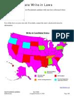 State Writein Candidates 2016