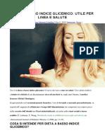Dieta a Basso Indice Glicemico