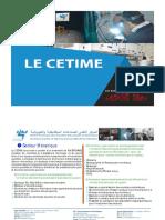 Brochure Activités du CETIME ©2019