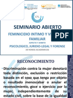 Taller Seminario de Femincidio Intimo y Violencia Familiar