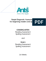 Evaluación de Nivel de Phonics para preescolar