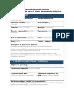 Formato Pabrario Para El Diseño de Secuencias Didácticas