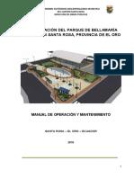 Manual de Mantenimiento Parque Bellamaria