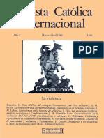 Juan María Laboa (dir.), José Miguel Oriol (ed.) - Revista Católica Internacional Communio 2 (1980)_ La Violencia-Ediciones Encuentro (1980).pdf