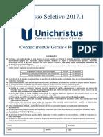 Vestibular Unichristus 2017.2
