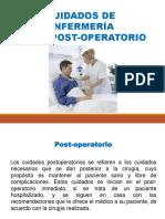 Cuidados de Enfermeria Post-operatorio