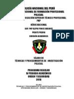 Proyecto Syllabus Tecnicas y Procedimientos Inv Pol Victor Piña