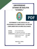 Una Propuesta - Programa de Alimentacion y Nutricion