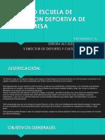 Proyecto Escuela de Formacion Deportiva de Tenis De