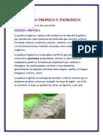 Química Orgánica e Inorgánica