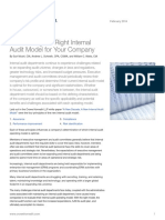 Determining the Right Internal Audit Model for Your Company