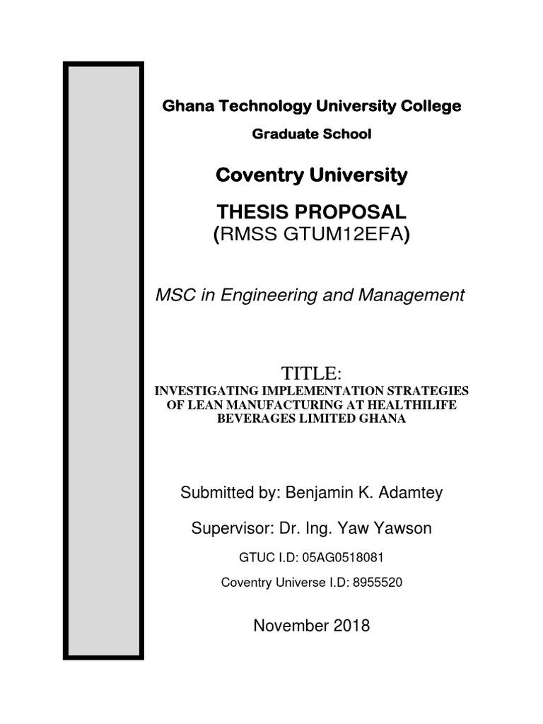 Lean manufacturing phd thesis