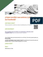 Ficha Centro Escritura 1_ ¿Cómo Escribir Una Noticia y Publicarla en Facebook