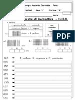 Avaliação de Matemática I UDB-2019