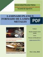 Lab. 06 Laminado y Conformado de Metales
